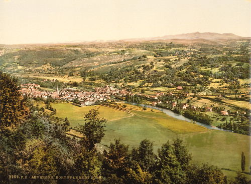 Art Prints of Bort and Mont Dore, Auvergne Mountains, France (386975)