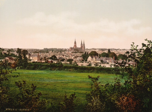 Art Prints of General View, Bayeux France (386978)