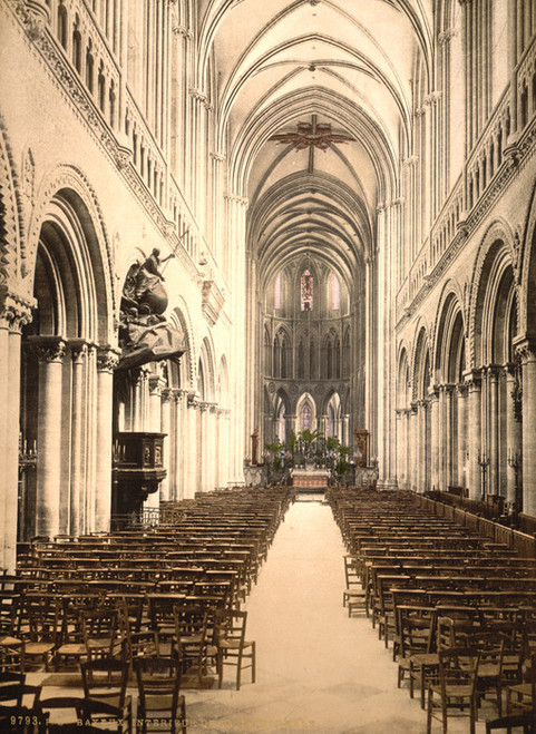 Art Prints of The Cathedral Interior, Bayeux, France (386980)