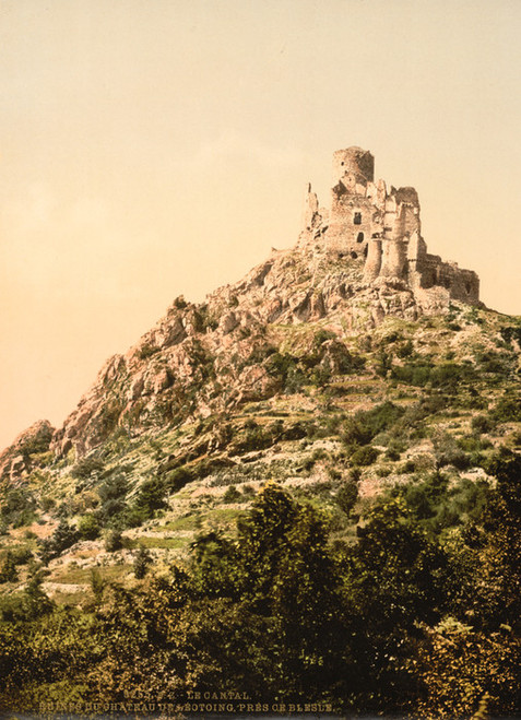 Art Prints of Le Cantal Chateau de Leoting, Blesle, Auvergne Mountains, France (386986)