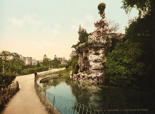 Art Prints of The Titon Teuton Fountain, Beziers, France (386991)