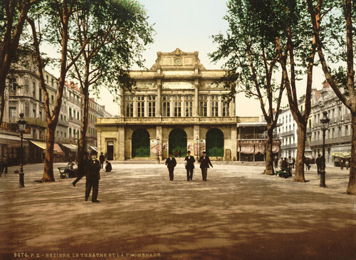 Art Prints of Theatre and Promenade, Beziers, France (386992)