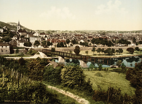 Art Prints of General View with the Doubs, Besancon, France (386987)