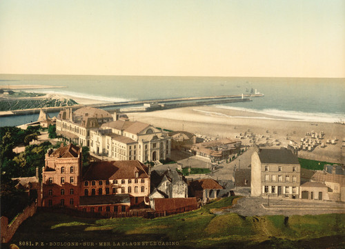 Art Prints of Beach and Casino, Boulogne, France (387004)