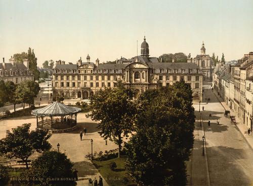 Art Prints of Royal Palace and Hotel de Ville, Caen, France (387013)