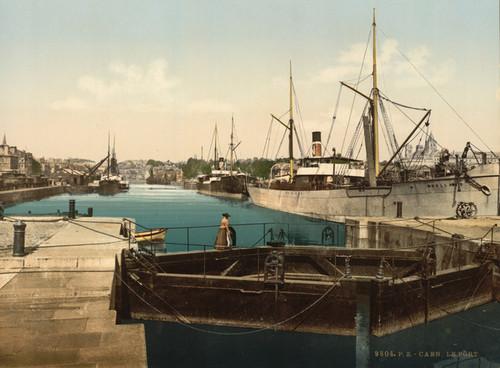 Art Prints of The Harbor, Caen, France (387017)