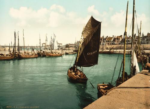 Art Prints of The Harbor, Calais, France (387024)
