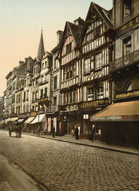 Art Prints of Old Houses in Rue St. Pierre, Caen, France (387018)
