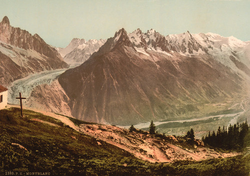 Art Prints of Mont Blanc the Chain from la Flegere, Chamonix Valley, France (387029)