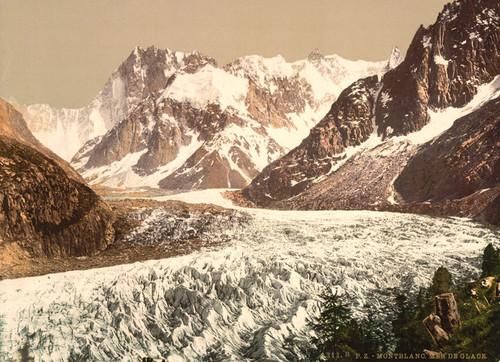 Art Prints of Mer de Glace Aiguille du Geant, Chamonix Valley, France (387031)