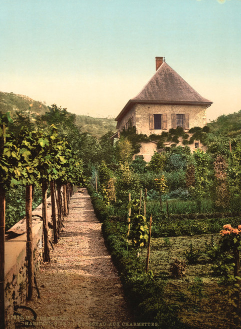Art Prints of House of Rousseau Charmelles or Charmettes, Chambery, France (387041)