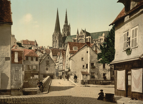 Art Prints of The Market Street, Chartres, France (387044)