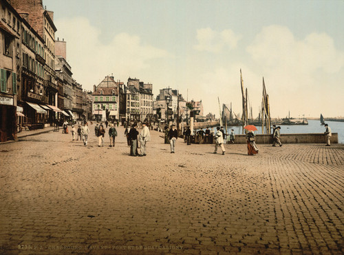 Art Prints of Harbor and Caligny Quay, Cherbourg, France (387050)