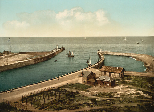 Art Prints of The Piers, Dieppe, France (387259)