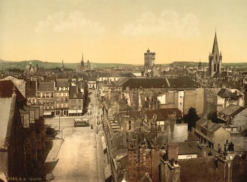 Art Prints of General View, Dijon, France (387261)