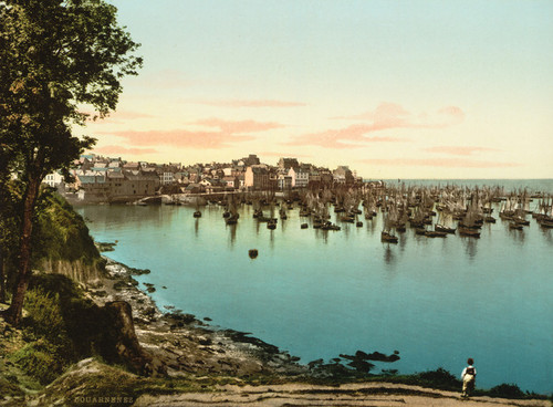 Art Prints of General View of the Harbor, Douarnenez, France (387271)