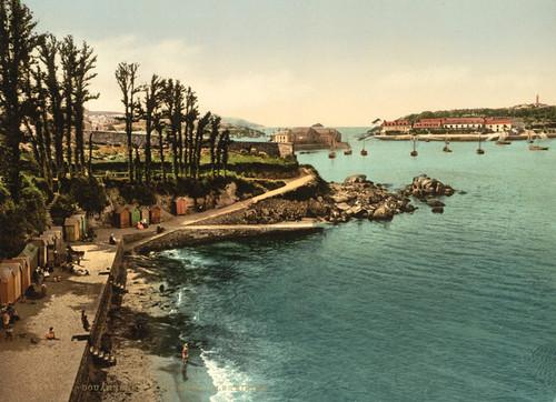 Art Prints of Beach and Ile de Tristan, Douarnenez, France (387272)