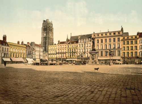 Art Prints of The Place, Jean Bart, Dunkirk, France (387275)
