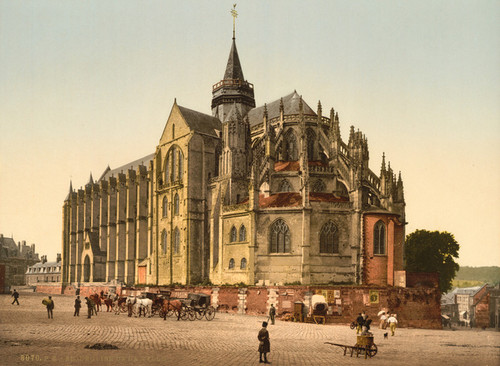 Art Prints of The Church in the Town, Eu, France (387279)