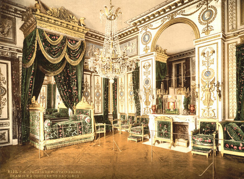 Art Prints of Bedroom of Napoleon I, Fountainebleau Palace, France (387286)