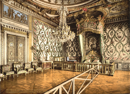Art Prints of Bedroom of Marie Antoinette, Fontainebleau Palace, France (387287)