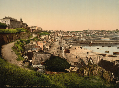 Art Prints of General View from Cape Lihou, Granville, France (387290)