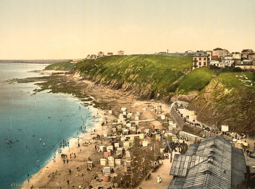 Art Prints of Beach at Bathing Time, Granville, France (387294)