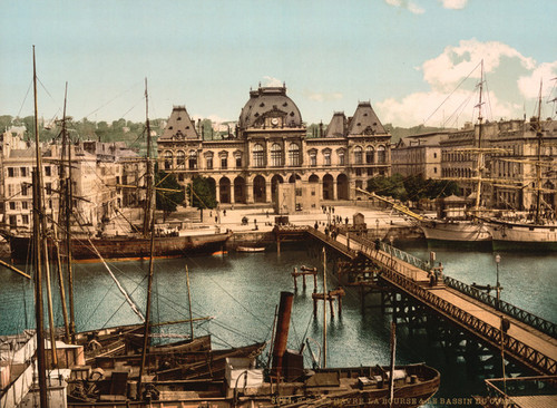 Art Prints of Bourse and Docks, Havre, France (387303)
