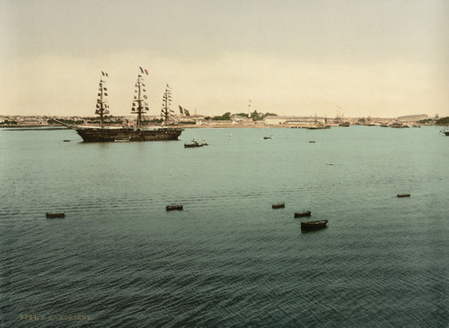 Art Prints of General View from Point Pen-Mane Lorient, France (387321)