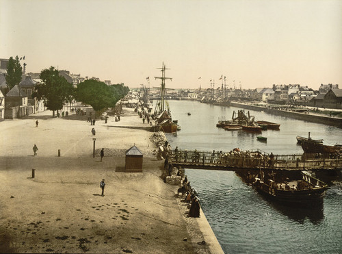 Art Prints of Merchant Harbor, Lorient, France(387323)