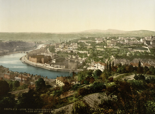 Art Prints of Panoramic View of Monastery and Mont d'Or Lyons, France (387327)