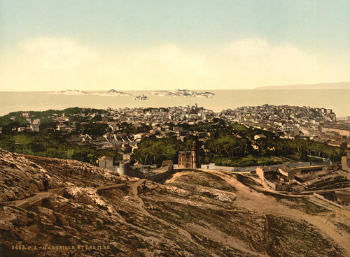 Art Prints of Panorama View from Notre Dame de la Garde, Marseilles, France (387347)