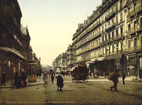 Art Prints of Cannabiere and Hotel de Louvre, Marseilles, France (387349)