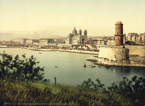 Art Prints of The Lighthouse and Cathedra, Marseilles, France (387367)