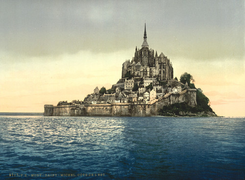Art Prints of Looking East at High Water, Mont St. Michel, France (387384)