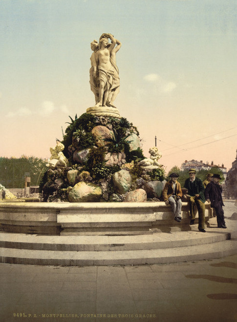 Art Prints of Fountain of the Three Graces, Montpelier, France (387381)