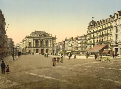 Art Prints of Theatre Place, Montpelier, France (387378)