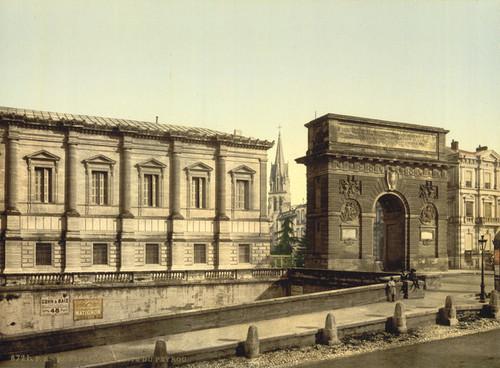 Art Prints of Beyron or Peyrou Gate, Montpelier, France (387376)