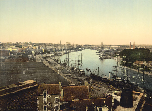 Art Prints of Town and Harbor, Nantes, France (387392)