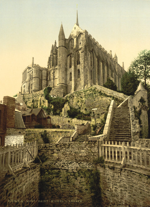 Art Prints of Abbey from the Ramparts, Mont St. Michel, France (387386)