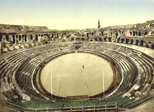 Art Prints of The Arena Interior, Nimes, France (387396)