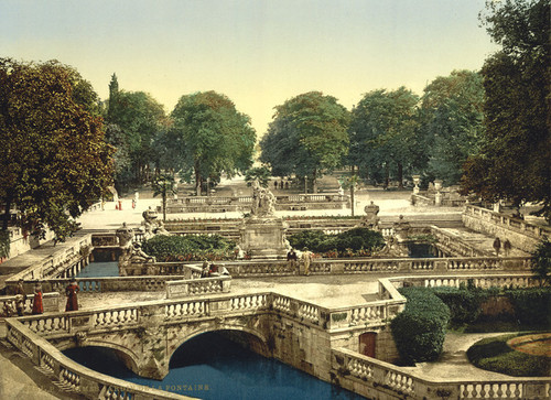 Art Prints of Garden of the Fountains, Nimes, France (387402)