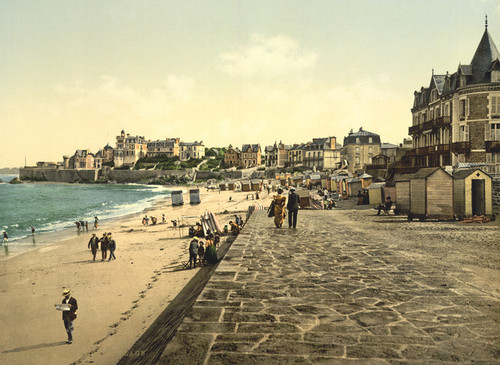 Art Prints of View of the Beach, Parame, France (387409)