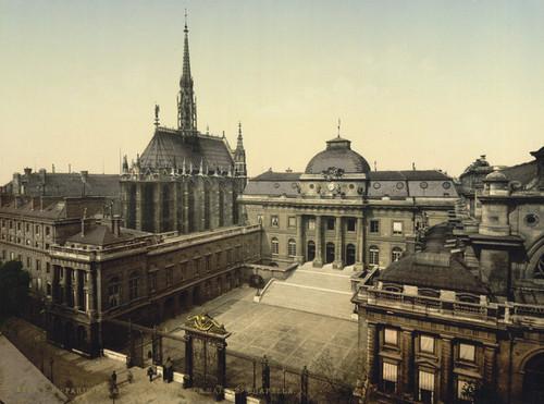 Art Prints of Palais de Justice and Holy Chapel, Paris, France (387413)