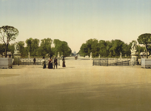 Art Prints of The Tuileries and Champs Elysees, Paris, France (387416)