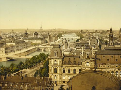 Art Prints of Panorama of the Seven Bridges, Paris, France (387410)