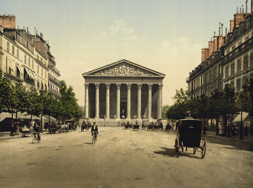 Art Prints of The Madeleine and Rue Royale, Paris, France (387432)