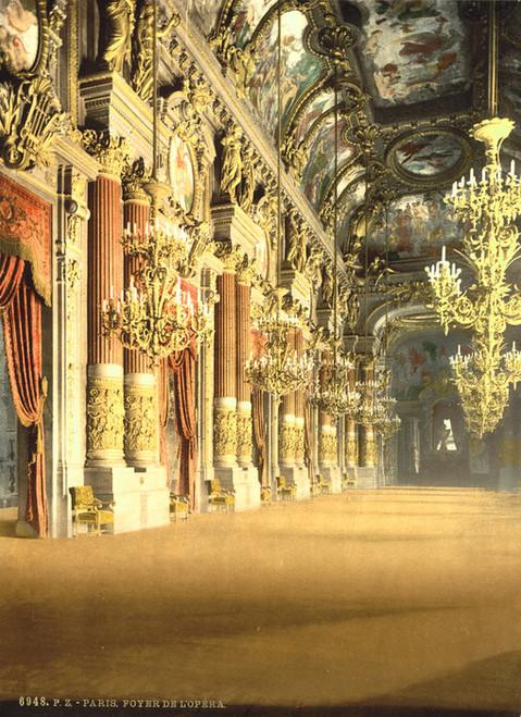 Art Prints of The Opera House, the Foyer, Paris, France (387427)