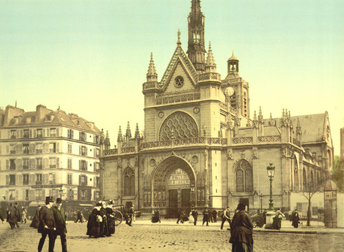 Art Prints of The Cathedral Near the East Railway Station, Paris, France (387430)
