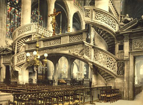 Art Prints of St. Etienne du Mont Church Interior, Paris, France (387438)